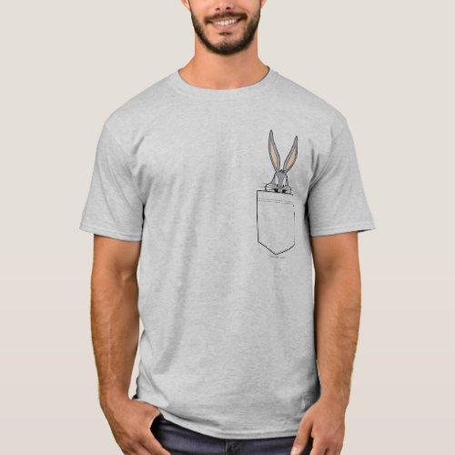 BUGS BUNNYâ Peeking Out Of Pocket T_Shirt