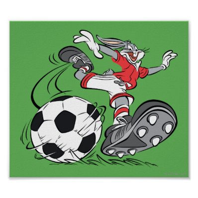 BUGS BUNNY? Playing Soccer Poster