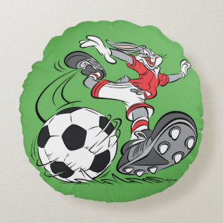 BUGS BUNNY™ Playing Soccer Round Pillow