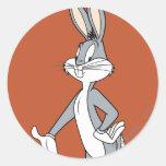 Bugs Bunny que coloca 3 Pegatina Redonda