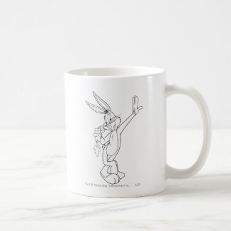 Bugs Bunny que come la zanahoria Taza De Café