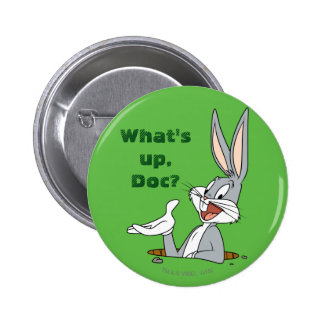 BUGS BUNNY™ Rabbit Hole Pinback Button
