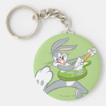 BUGS BUNNY™ Rocking On Guitar Basic Round Button Keychain