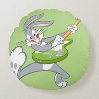 BUGS BUNNY™ Rocking On Guitar Round Pillow