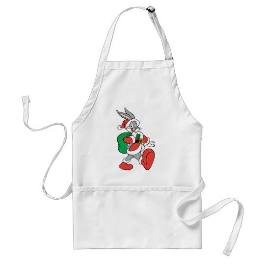 BUGS BUNNY™ Santa walking happily Adult Apron