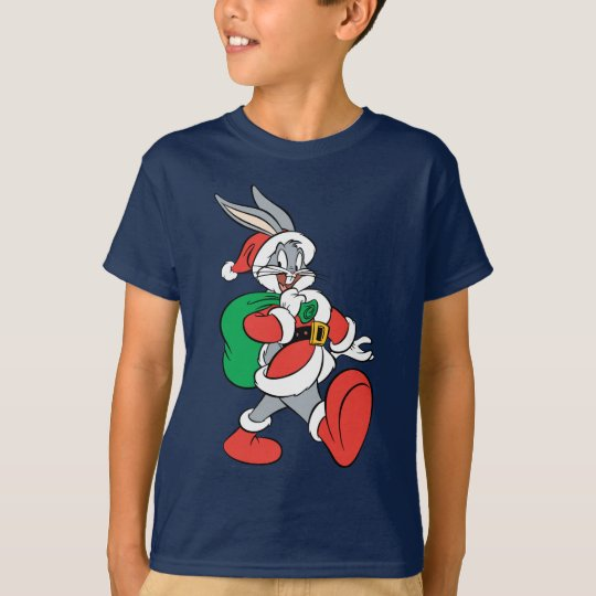BUGS BUNNY™ Santa walking happily T-Shirt