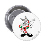 BUGS BUNNY™ Santa Waving 2 Inch Round Button