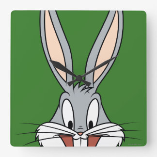 BUGS BUNNY™ Smiling Face Square Wall Clock
