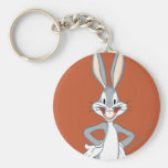 BUGS BUNNY™ Standing Basic Round Button Keychain