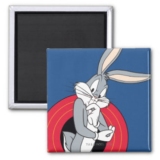 BUGS BUNNY™ Through LOONEY TUNES™ Rings 2 Inch Square Magnet