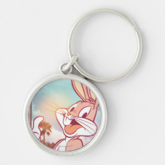 BUGS BUNNY™ Vacation Photo Silver-Colored Round Keychain
