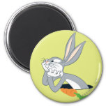 BUGS BUNNY™ with Carrot 2 Inch Round Magnet