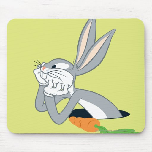 BUGS BUNNY™ with Carrot Mouse Pad