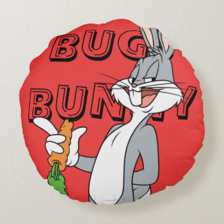 BUGS BUNNY™ With Carrot Round Pillow