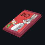 """BUGS BUNNY™ With Carrot Tri-fold Wallet<br><div class=""""desc"""">LOONEY TUNES™   Check out this BUGS BUNNY™ With Carrot artwork! Click the customize button to begin personlizing your very own LOONEY TUNES™ merchandise!</div>"""