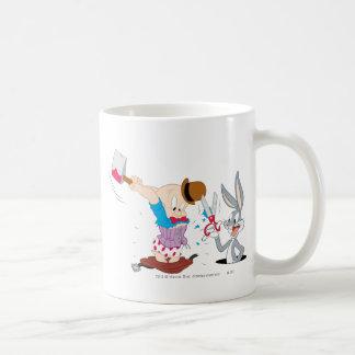 Bugs Bunny y Elmer Fudd Tazas De Café