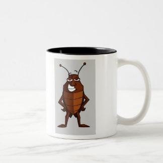 bugs, cartoon, funny, fun, insects Two-Tone coffee mug