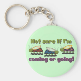Bugs Coming and Going Tshirts and Gifts Keychain