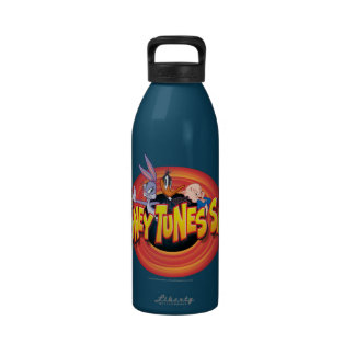 Bugs Daffy Porky Looney Tunes Show Icon Water Bottle