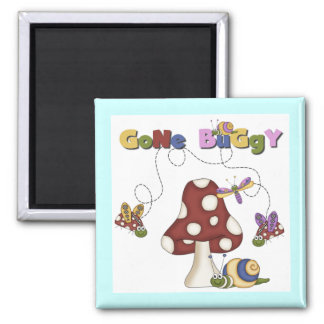 Bugs Gone Buggy Tshirts and Gifts 2 Inch Square Magnet