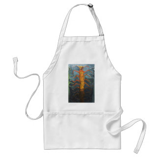 Bugs in Chorus (odd surrealism painting) Adult Apron