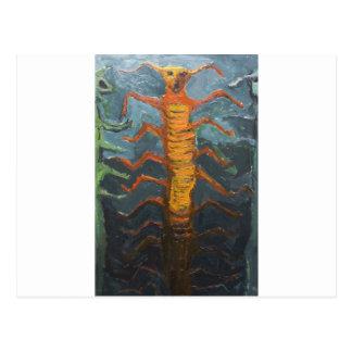 Bugs in Chorus (odd surrealism painting) Postcard