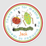 Bugs Insects Ladybugs Ants Birthday Favor Stickers