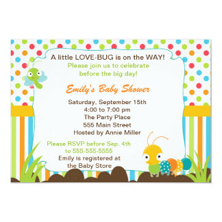 Bugs Invitation Unisex Baby Shower