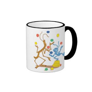Bug's Life Flik and Slim juggling Disney Ringer Mug