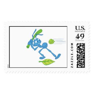 Bug's Life Flik playing baseball swinging bat Postage Stamp