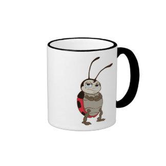 Bug's Life Francis male ladybug arms folded angry Ringer Mug