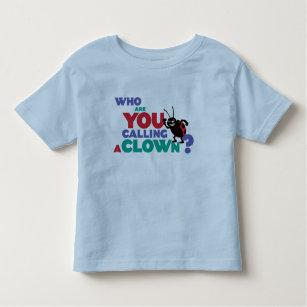 Abstract deconstructed clown toddler t-shirt