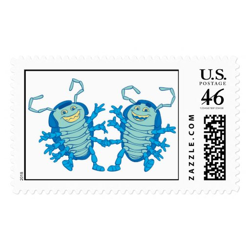 Bug's Life Tuck and Roll rollie pollies beetles Stamps