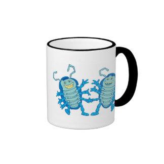 Bug's Life Tuck and Roll rollie pollies beetles Ringer Coffee Mug