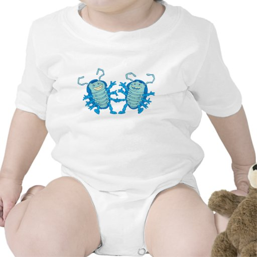 Bug's Life Tuck and Roll rollie pollies beetles Baby Bodysuits