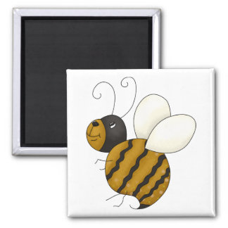 Bugs 'n' Blooms · Bee 2 Inch Square Magnet