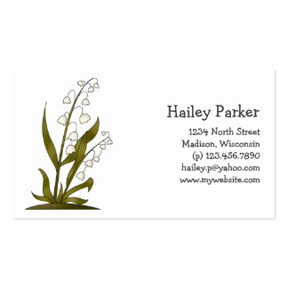Bugs 'n' Blooms · Lily of the Valley Double-Sided Standard Business Cards (Pack Of 100)