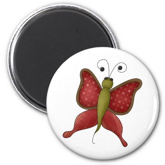 Bugs 'n' Blooms · Red Butterfly Magnet