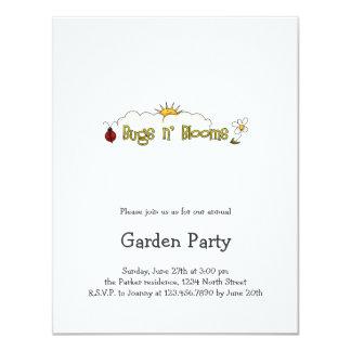Bugs 'n' Blooms · Wordart 4.25x5.5 Paper Invitation Card