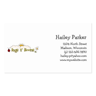 Bugs n Blooms · Wordart Business Card Templates