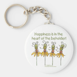 Bugs on Flowers Basic Round Button Keychain