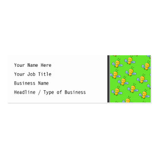 Bugs Pattern Yellow and Bright Green Business Card