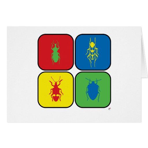 Bugs Pop Art Greeting Card