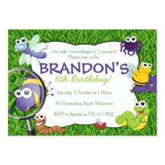 Bugs Theme Kids Party Invitation