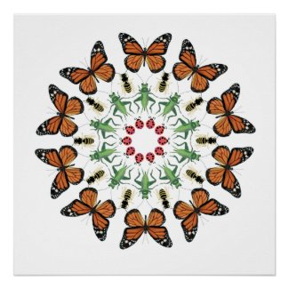 Bugsby Berkeley poster - nature lady bug wall art
