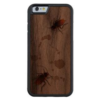 BugZeez™ Icky Sticky Rambling Roaches Carved Walnut iPhone 6 Bumper Case