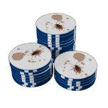 BugZeez™ Icky Sticky Rambling Roaches Poker Chips Set