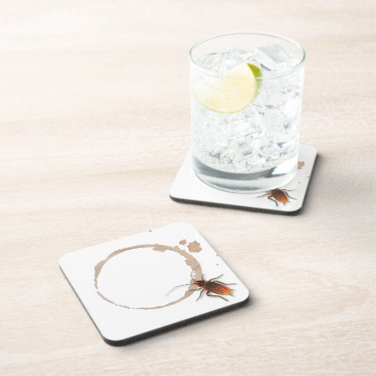 Bugzeez_Icky Sticky Roaches_coffee ring stain Beverage Coaster
