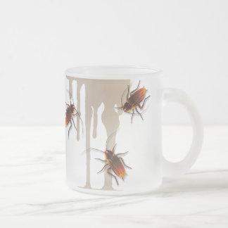 Bugzeez_Icky Sticky Roaches dripping glass mug