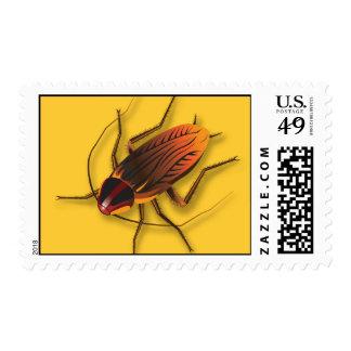 Bugzeez_The Artful Roach on golden yellow postage